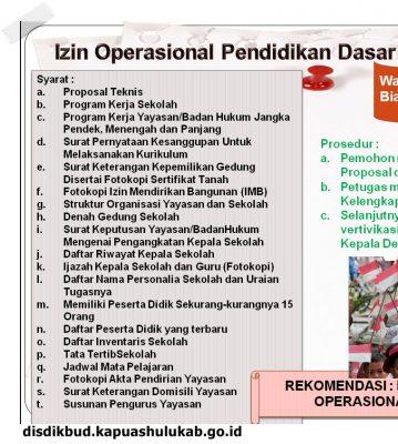 Izin Operasional Pendidikan Dasar