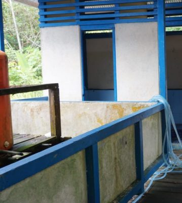 Bupati Kapuas Hulu dan Kepala Dinas Pendidikan dan Kebudayaan meninjau bangunan Sekolah,sarana & prasarana di SDN 12 Tanjung Durian, kec.Putussibau Utara