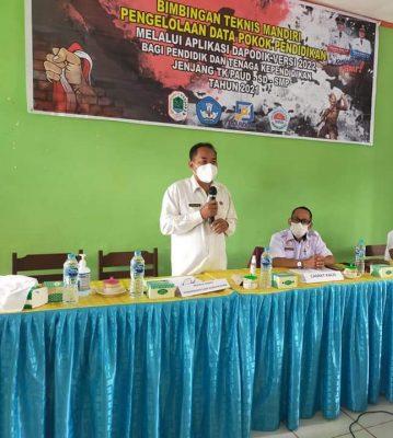 Kadis Disdikbud KH Menghadiri kegiatan Bimbingan Teknis mandiri pengelolaan Dapodik