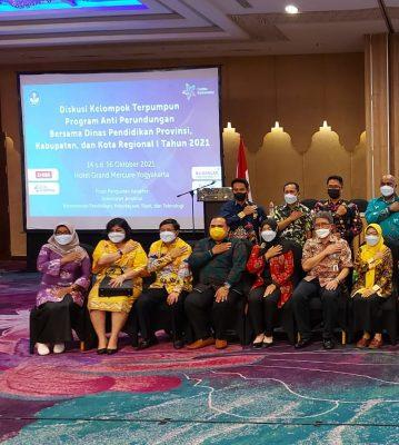 Diskusi Kelompok Terpumpun (DKT) Program Anti Perundungan bersama Dinas Pendidikan Provinsi, Kabupaten/Kota Regional 1 Tahun 2021